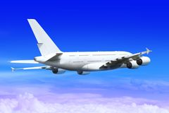 Landing big plane Royalty Free Stock Photography
