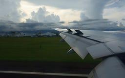 Landing at Cebu Airport Royalty Free Stock Image
