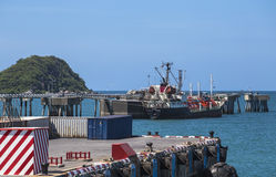 Landing dock for General cargo ship Stock Photo
