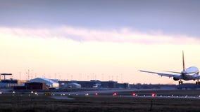 Landing at dusk