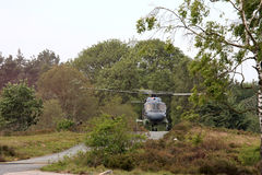 Landing dutch air force helicopter Royalty Free Stock Photography