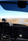 Landing on Final. Final aproach to airfield runway Stock Photos