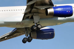 Landing gear. Of a Boeing 757-300 royalty free stock photo