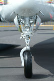 Landing gear of aircraft Stock Image