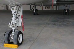 Landing gear of aircraft Royalty Free Stock Photo