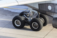 Landing gear airplane royalty free stock image