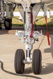 Landing gear of airplane Royalty Free Stock Photos