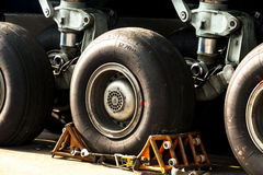 Landing gear and airplane wheels Stock Photography
