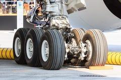 A350-1000 landing gear stock photography