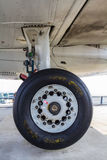 Landing gear Fokker 100 Royalty Free Stock Photography