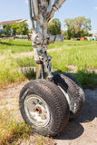 The landing gear of the old plane Royalty Free Stock Images