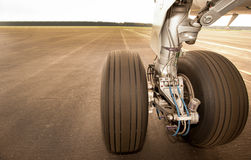 Free Landing Gear, Wheels, On The Runway, Close Up Royalty Free Stock Image - 30604816