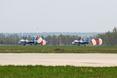 Landing group SU-27 Stock Photos