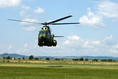 Landing helicopter Royalty Free Stock Image
