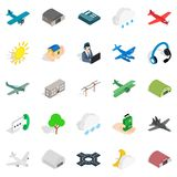 Landing icons set, isometric style. Landing icons set. Isometric set of 25 landing vector icons for web isolated on white background Stock Images