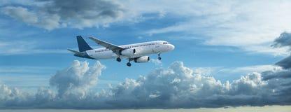 Landing jet Royalty Free Stock Photography