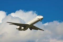 Landing jet Royalty Free Stock Photo