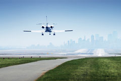 Landing Jetplane Royalty Free Stock Photography