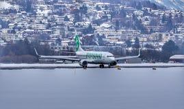 Landing stock image