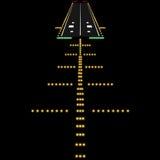 Landing lights. Vector illustration Stock Image