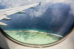 Landing at Male Airport, Maldives Stock Photos
