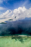 Landing at Male Airport, Maldives Royalty Free Stock Photos