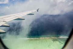 Landing at Male Airport, Maldives Royalty Free Stock Photo