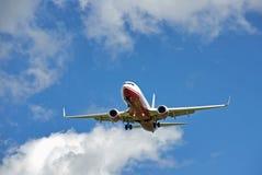 Landing in Mallorca Stock Image