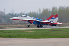 Landing Mig-29 fighter Stock Photography