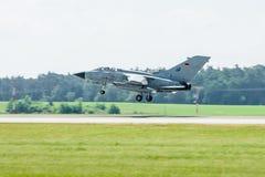 Landing multirole aircraft, Panavia Tornado. Royalty Free Stock Photos
