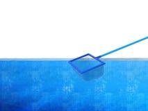 Landing net or fishing net with pool Stock Image