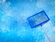 Landing net or fishing net with pool Stock Images