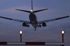 landing night Στοκ φωτογραφίες με δικαίωμα ελεύθερης χρήσης