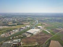 Landing at Nuremberg airport Stock Image