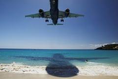 Landing On The Beach Stock Photo