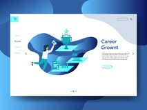 Landing Page Career Growth royalty free illustration