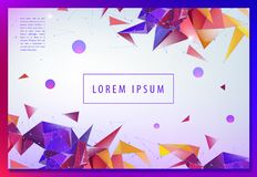 Landing page concept. Geometric abstract background with trendy 3d facet origami shapes, triangles and dynamic. Composition. Vector eps10 illustration vector illustration