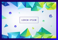Landing page concept. Geometric abstract background with trendy 3d facet origami shapes, triangles and dynamic. Composition. Vector eps10 illustration royalty free illustration