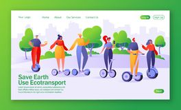 Concept of landing page on ecology theme. royalty free illustration