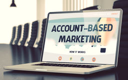 Landing Page of Laptop with Account-based Marketing Concept. 3D. Stock Photography