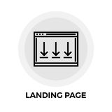 Landing Page Line Icon Stock Photography