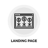 Landing Page Line Icon Stock Image