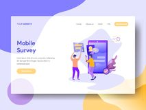 Landing Page Mobile Survey royalty free illustration