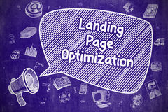 Landing Page Optimization - Business Concept. Stock Photography