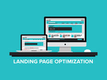 Landing page optimization concept Royalty Free Stock Photography
