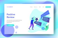 Landing Page Positive Review vector illustration