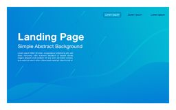 Landing page simple design geometric background Dynamic shapes composition_light color page stock illustration