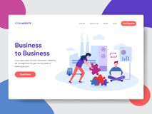 Landing page template of Business to Business Concept. Modern flat design concept of web page design for website and mobile royalty free illustration