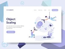Landing page template of 3d Scale modification Illustration Concept. Isometric flat design concept of web page design for website stock illustration