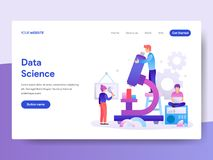 Landing page template of Data Science Concept. Modern flat design concept of web page design for website and mobile website.Vector stock illustration